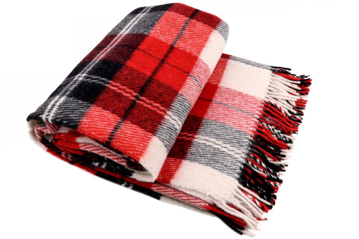 Шерстяной плед Vladi Эльф (Влади) Красный 200х220 Шерсть Новая Зеландия 70 (3037)