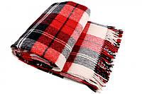 Шерстяной плед Vladi Эльф (Влади) Красный 200х220 Шерсть Новая Зеландия 70 (3037), фото 1