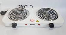 Електроплита Wimpeх WX 200B спіральна,настільна на 2 конфорки 2000 Вт