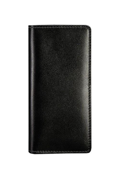 Кошелек-купюрник кожаный черный (ручная работа)