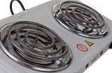 Электроплита Wimpeх WX 200B  спиральная,настольная на 2 конфорки  2000 Вт, фото 3