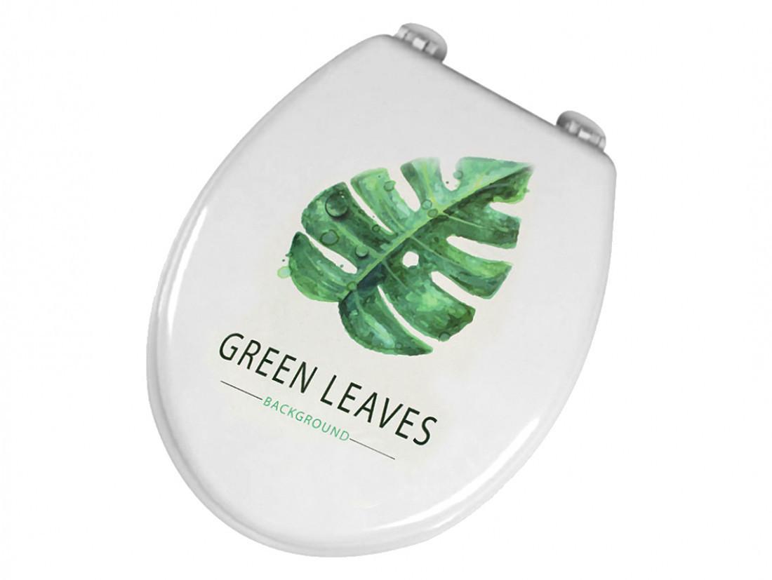Сиденье для унитаза дюропласт из коллекции Bathlux Green Leaves