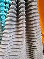Плюш мягкий 100% полиэстер ширина 160 см для декоративных подушек мягких игрушек темно-серый