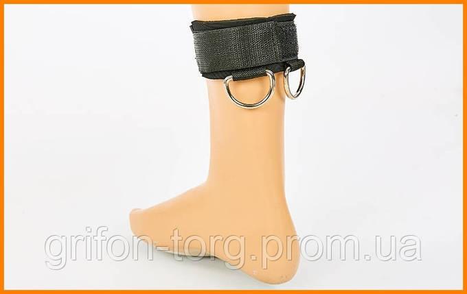 Лямка для ног нейлоновая 32.5x6 черная 1 шт, фото 2