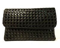 Сумка-клатч женская черная переплет 0622-41