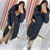 Куртка женская зимняя чёрный, слива, синий, бордо, фото 1