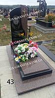 Комбінований памятник із кольоровим квітником граніту