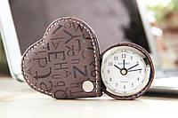 Сердечко-будильник шоколадного цвета