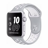Ремінець Nike Design Apple watch 42, 44мм Біло-сірий