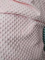 Плюш мягкий 100% полиэстер ширина 160 см для декоративных подушек мягких игрушек розовый, фото 1
