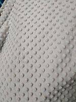М'який Плюш 100% поліестер ширина 160 см для декоративних подушок м'яких іграшок сірий, фото 1