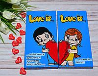 Набор из 2 шоколадок  Love Is... Лав из для влюбленных