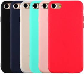 Матовый чехол iPhone 6 Plus / 6S Plus (силиконовая накладка) (Айфон 6 6С Плюс)