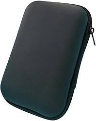 Футляр для наушников прямоугольный Lipo (8х11 см) Black