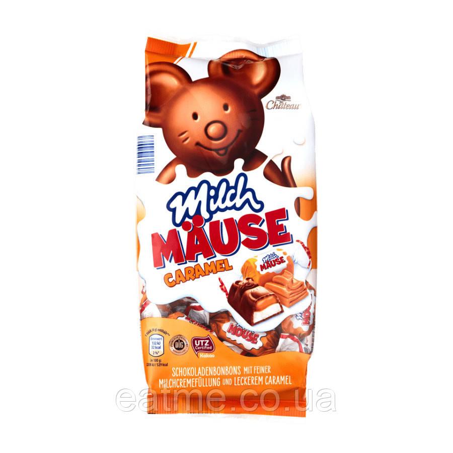 Chateau Milch Mause Конфеты из молочного шоколада в виде мышек со сливочной и карамельной начинками
