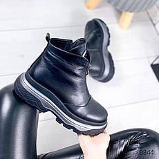 """Черевики жіночі зимові, чорного кольору з натуральної шкіри """"8844"""". Черевики жіночі. Теплі черевики, фото 3"""