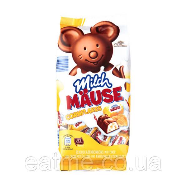 Chateau Milch Mause Конфеты из молочного шоколада в виде мышек со сливочной начинкой и кукурузными хлопьями