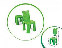 Детский раскладной пластиковый Стул-табурет (Зелёный) (30х60х30см)