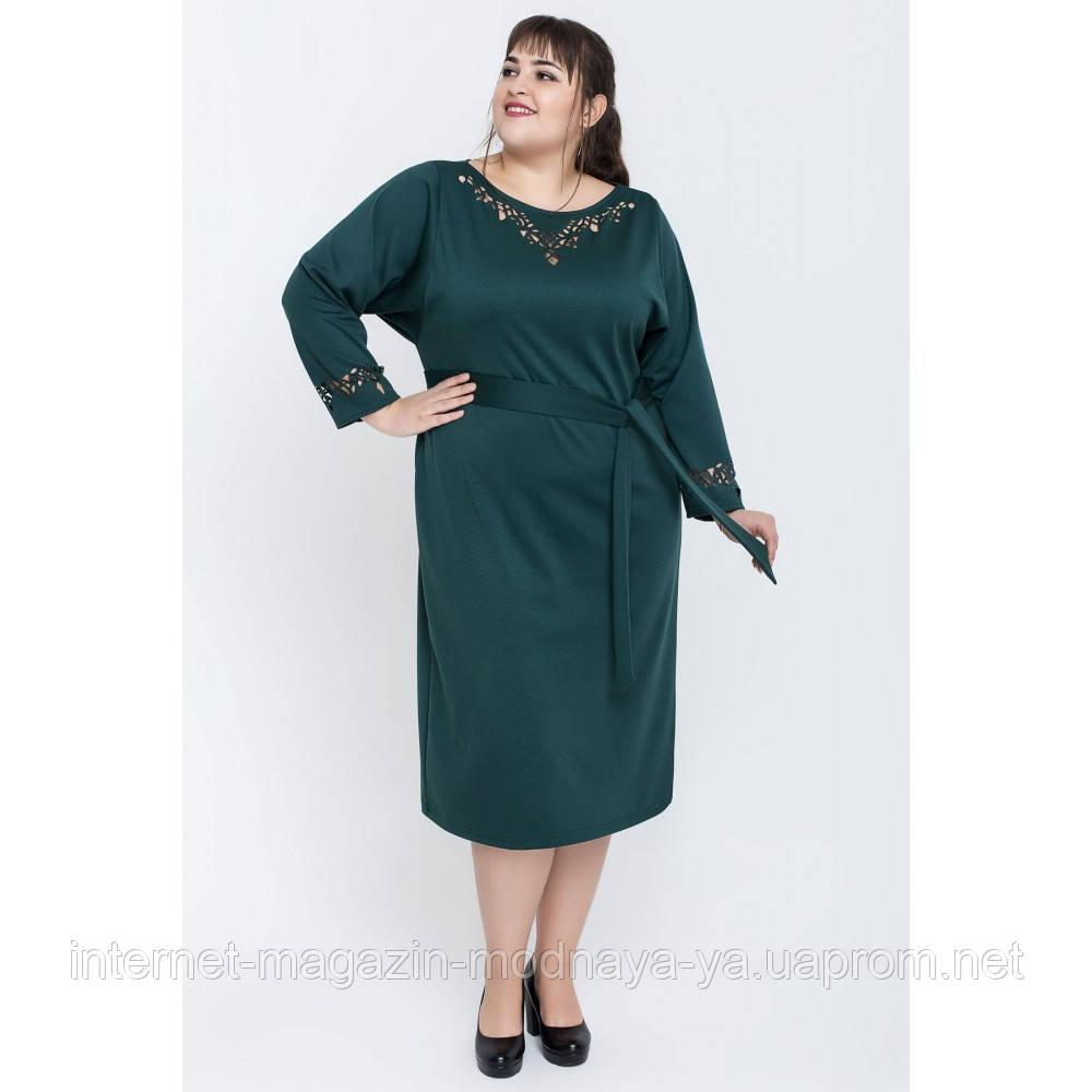 Женственное платье большие размеры Шайли р. 54-60