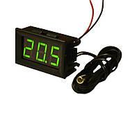 Термометр побутовий цифровий, зелений LED (світлодіодний) індикатор, -50 ~ 110°C, живлення 5-12В, 1 метр