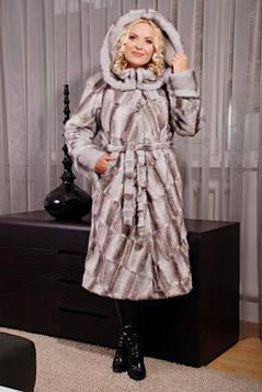 Шикарная женская длинная шуба из эко меха чёрная норка с 44 по 58 размер, фото 2