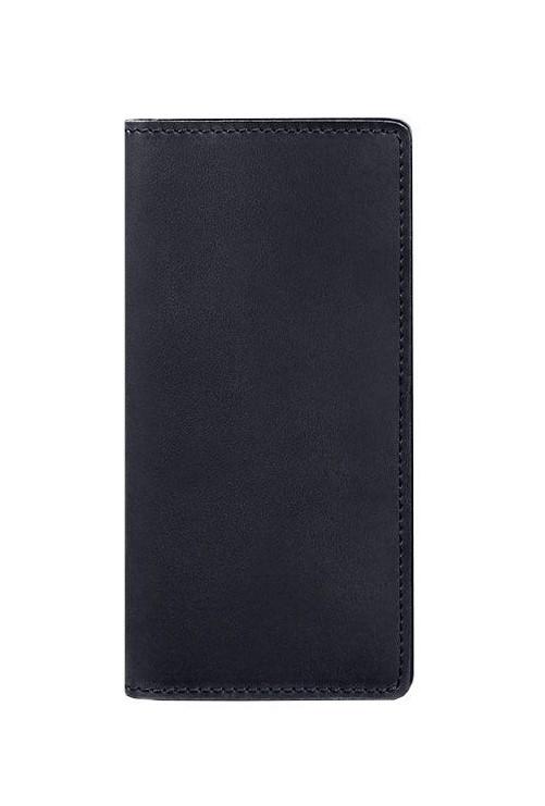Кошелек-купюрник кожаный темно-синий (ручная работа)