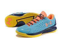 Мужские кроссовки UNDER ARMOUR CHARGED FOAM CURRY 1 Low (Blue/Orange), фото 1