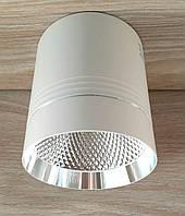 Потолочный светильник LED Feron AL542 18W 4000K 1530Lm точечный накладной светодиодный белый+серебро, фото 1