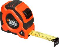 Рулетка измерительная BLACK+DECKER GRIP TAPE из прочного ABS пластика 8 м BDHT0-30099