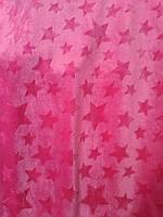 Плюш мягкий 100% полиэстер ширина 160 см для декоративных подушек мягких игрушек розовая звезда