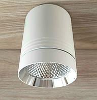 Потолочный светильник LED Feron AL542 10W 4000K 850Lm точечный накладной светодиодный белый+серебро