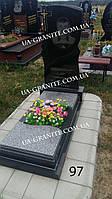 Современный памятник на могилу с крестом