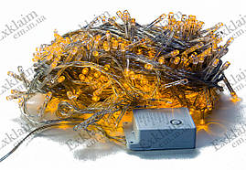Светодиодная гирлянда нить 400L (желтая)