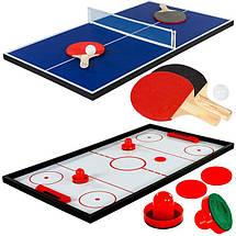 Настольная супер игра 15 в 1, мини бильярд, аэрохоккей, настольный футбол, карточные игры, тенис, фото 3