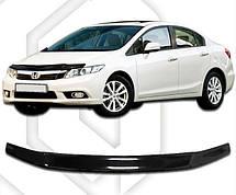 Дефлектор капота  Honda Civic (Sedan) с 2012, Мухобойка Honda Civic