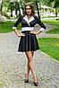 Расклешенное женское платье с контрастным кантом ( 2073 sk), фото 2
