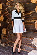 Расклешенное женское платье с контрастным кантом ( 2073 sk), фото 3