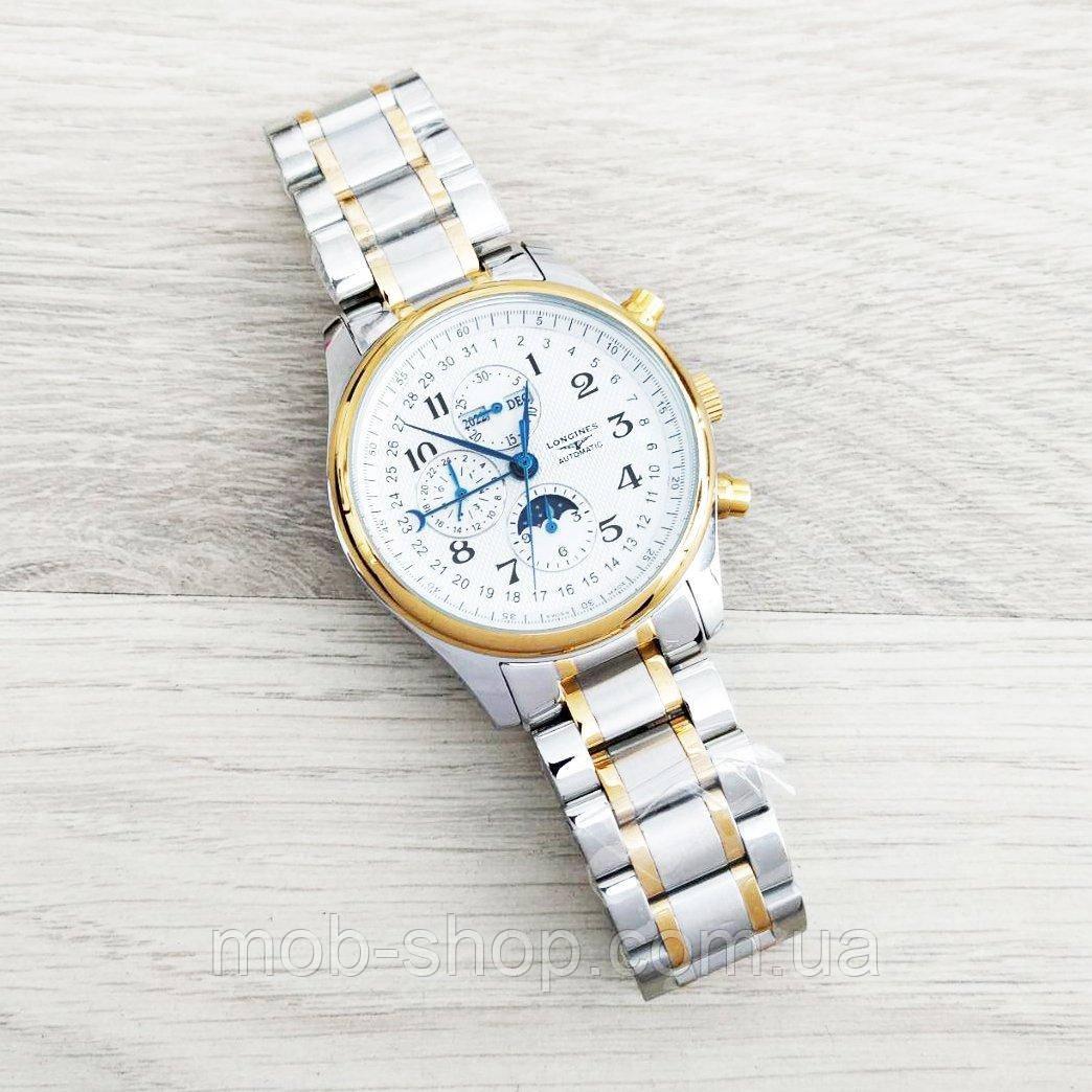 Наручные часы Longines Master Collection Moonphases Steel Silver-Gold-White