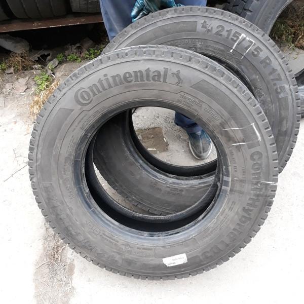 Шины б.у. 215.75.r17.5 Continental Conti Hybrid LD3 Континенталь. Резина бу для грузовиков и автобусов