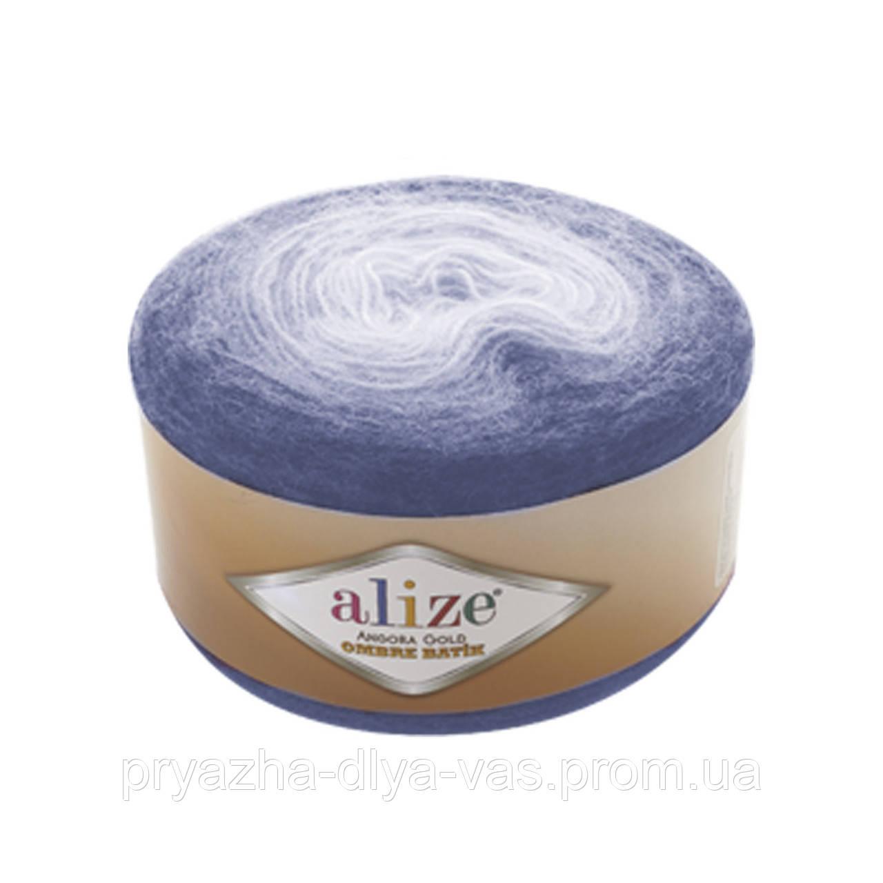 Зимняя пряжа(20% шерсть, 80% акрил) Angora Gold Ombre Batik 7303