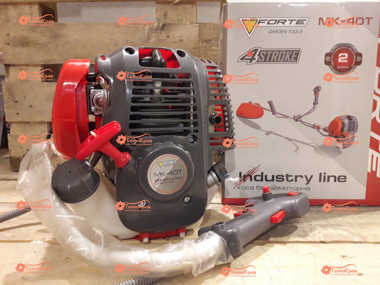 Четырехтактная мотокоса Forte БMK-40T Industry Line