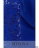 Нарядное женское платье батал Креп дайвинг с отделкой из гипюра и шифона Размер 54 56 58 60 62 64 Разные цвета, фото 7