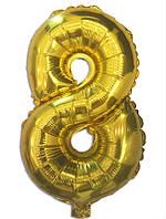 """Фольгована цифра """"8"""" Золота Китай, 100 см (40')"""