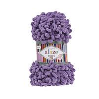 Пряжа для вязания руками (100%-микрополиэстер, 100г/14м) Alize PUFFY FINE 437 (сирень)