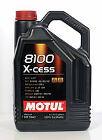 Синтетическое моторное масло Motul 8100 X-cess Sae 5w-40 5л, фото 1