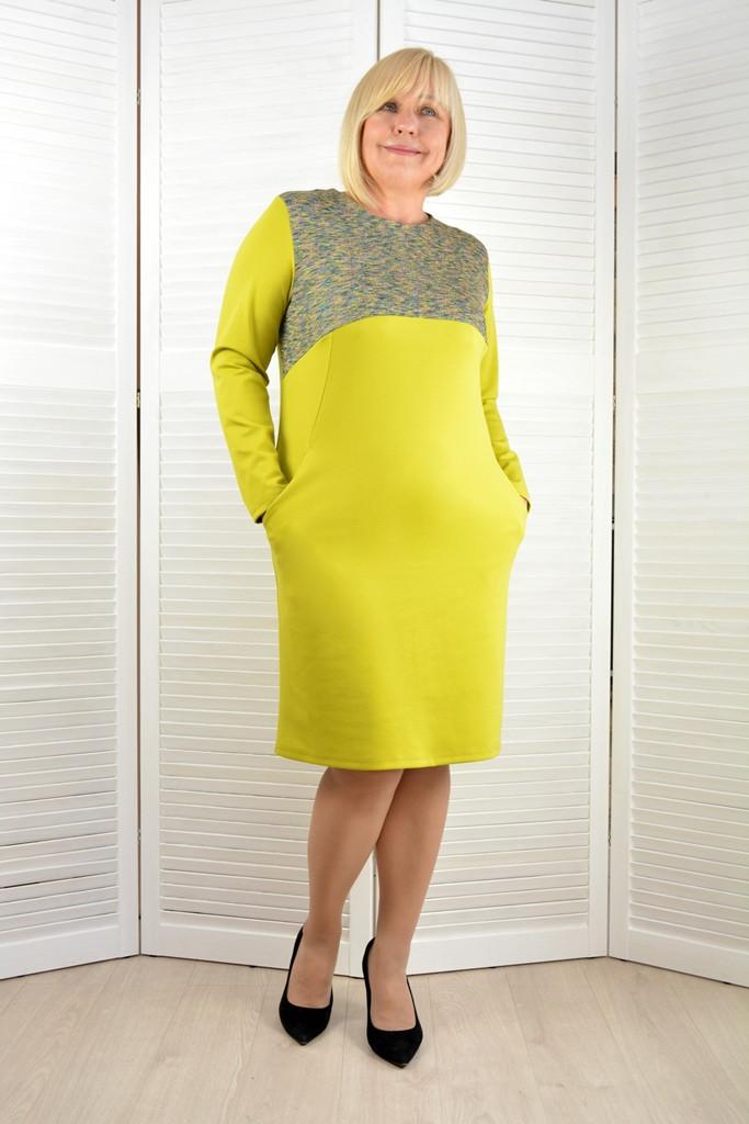 Платье с карманами - Модель Л381-3 ( 50,52 размеры )