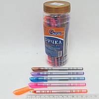 Ручка масляная JOtten White Line Индия 0,6мм (банка30, mix) синяя