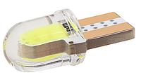 Автомобильная лампочка T10 W5W COB LED - голубой