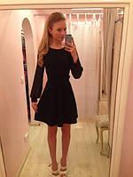 Платье шифоновое с трикотажным манжетом