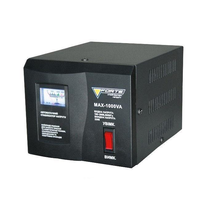 Стабилизатор напряжения Forte MAX 1,0 кВт. Напольный. Аналоговый вольтметр